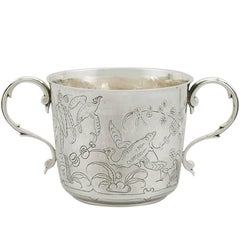 Antique 1910s Sterling Silver Porringer by Lambert & Co