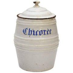 1950s White Chircoree French Kitchen Pot