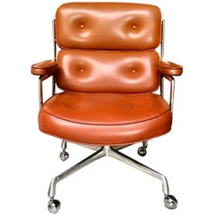 Vintage Sienna Colored Leather Time Life Chair