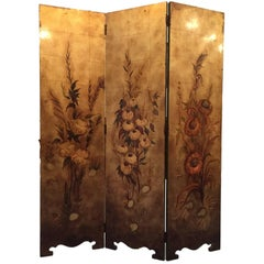 French Art Nouveau Screen Early 20th Century