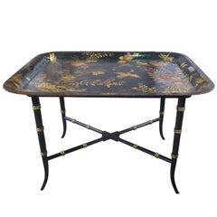19th Century English Tray on Stand