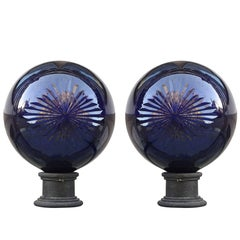 Apothecary Balls in Cobalt Blue Cut Crystal