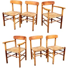Set of Six Borge Mogensen Shaker Dining Chairs