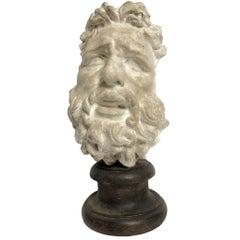 Academic Cast of Plaster Depicting Laocoonte' Head