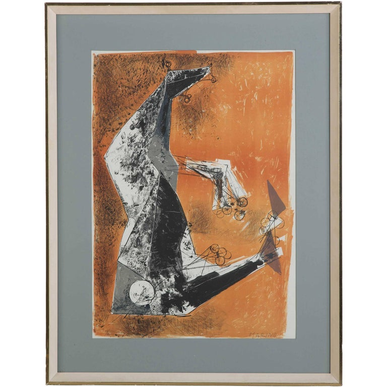 """Miracolo"" by Marino Marini lithograph in colours For Sale"