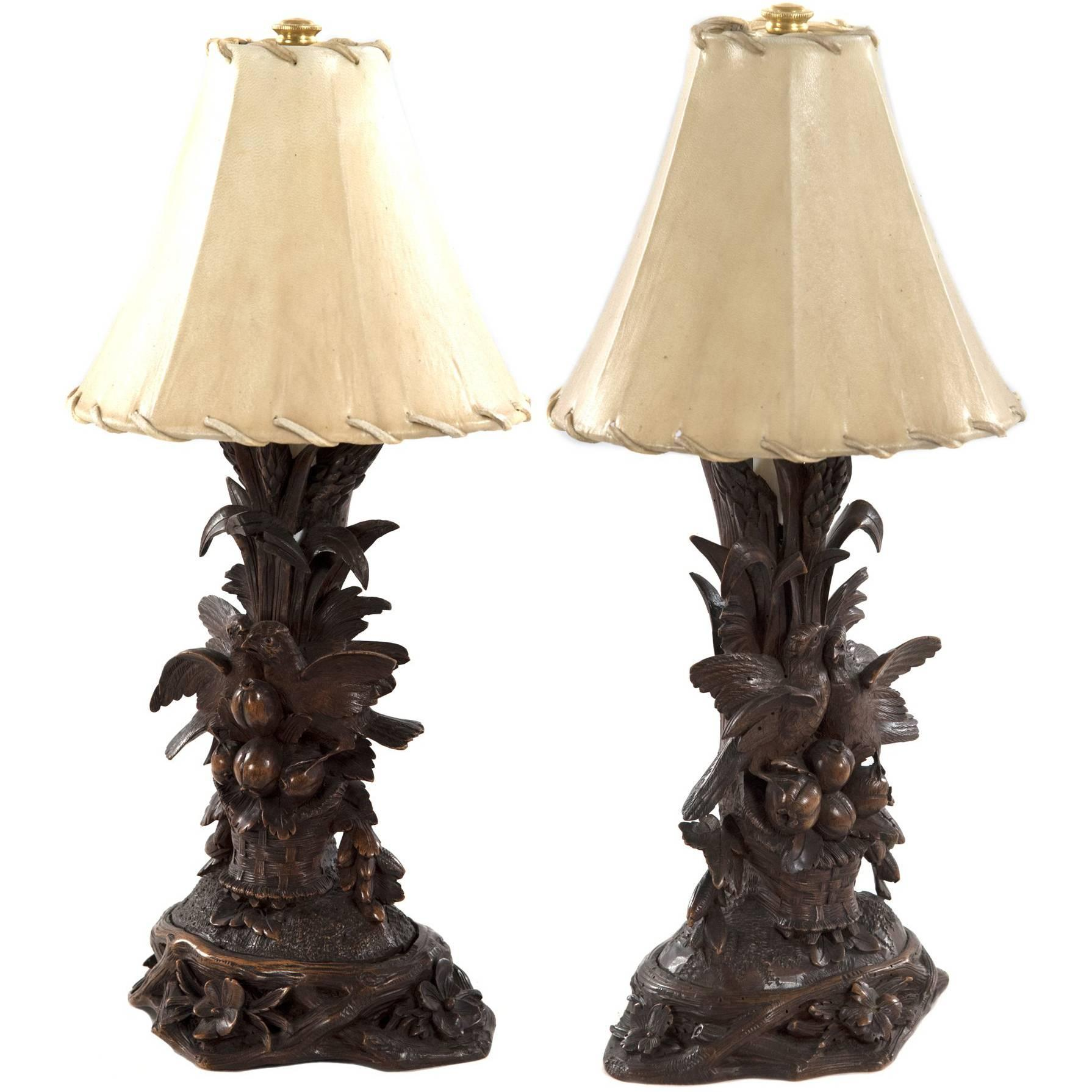 Pair of 19th Century Black Forest Carved Wood Bird Table L&s  sc 1 st  1stDibs & Black Forest Lighting u0026 Light Fixtures - 23 For Sale at 1stdibs azcodes.com