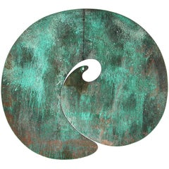 Exceptional Large Bronze Gong by Harry Bertoia