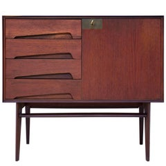 Italian Teakwood small Sideboard by Edmondo Palutari for Vittorio Dassi, 1950s