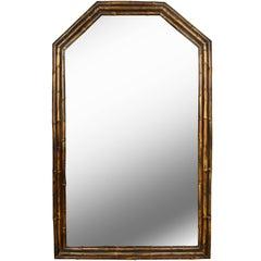 Vintage English Bamboo Mirror