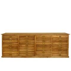 19th Century French 36-Drawer Storage Cabinet