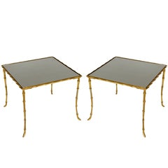 Small Brass Side Tables