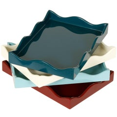 Small Wavy Lacquer Trays