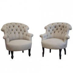 Near Matching Pair of French Armchairs