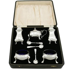 1930s George VI Sterling Silver Condiment Set