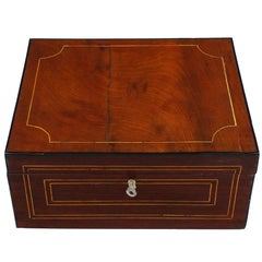 19th Century Biedermeier Period Casket, France circa 1830-1840, Mahogany