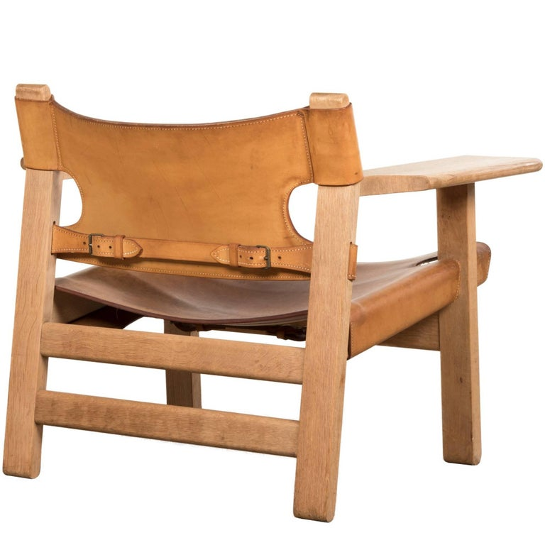 Napoleon Styled Saddle Brown Kitchen Chair: Leather And Wood Spanish Style Chairs, Saddle Leather At