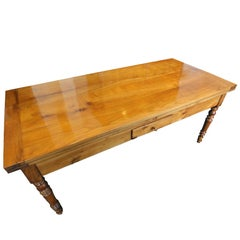 19th Century Biedermeier Farmhouse Table Solid Cherrywood
