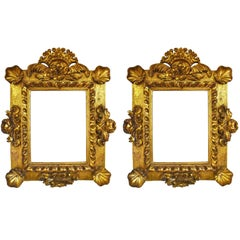 18th Century Pair of Antique Gilded Gold Mirrors