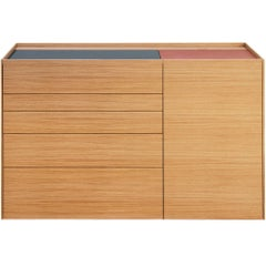 """Brown"" Pc/Laptop Unit Cabinet or Desk Designed by Stephane Lebrun for Dessie'"
