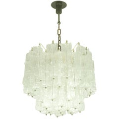 Italian Murano Hand Made Glass Chandelier by Toni Zuccheri for Venini, 1960s