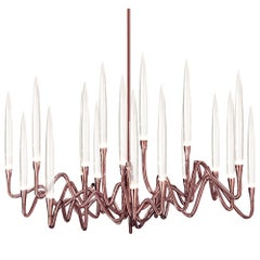 """Il Pezzo 3 Round Chandelier"" solid crystal candles and LED technology"