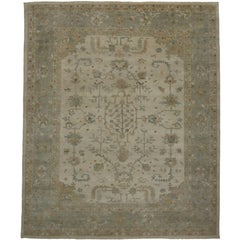 Contemporary Oushak Rug with Modern Style and Light Colors