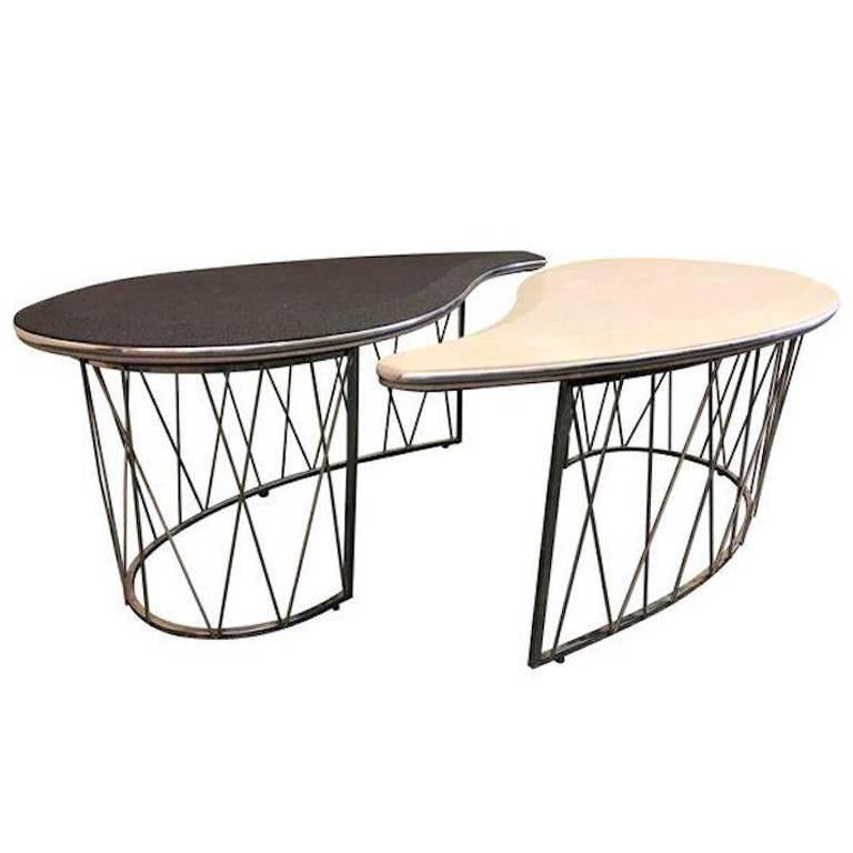Pair Of Michael Amini Yin Yang Cocktail Tables For Sale At 1stdibs