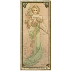 "Set of Alphonse Mucha Lithographs Titled ""The Four Seasons"""