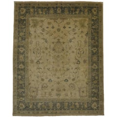 New Contemporary Oushak Oversized Rug with Transitional Style