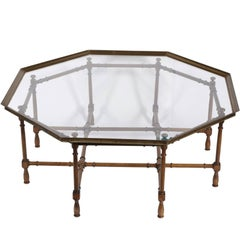 Large Faux Bamboo Coffee Table