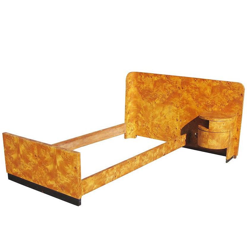 Vintage 1920s-1930s Italian Art Deco Bed
