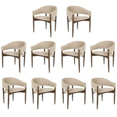 Set of Ten Enroth Dining Chairs