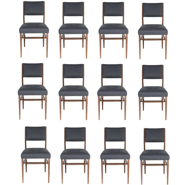 Set of 12 Maze Walnut Dining Chairs