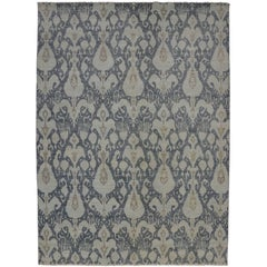 New Contemporary Ikat Area Rug with Modern Style, Transitional Ikat Rug