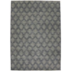 New Modern Transitional Damask Area Rug, Contemporary Victorian Damask Rug