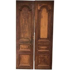Pair of Country Mahogany Doors from La Casa Zaldiva, Pacheco in El Salvador