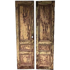 Pair of Rustic Mahogany Doors from La Casa Zaldivar, Pacheco in El Salvador