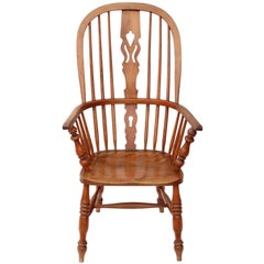 Antique Victorian circa 1840 Ash and Elm Windsor Armchair