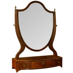 George III Mahogany Dressing Table Mirror