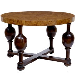 Art Deco Burr Elm Coffee Table