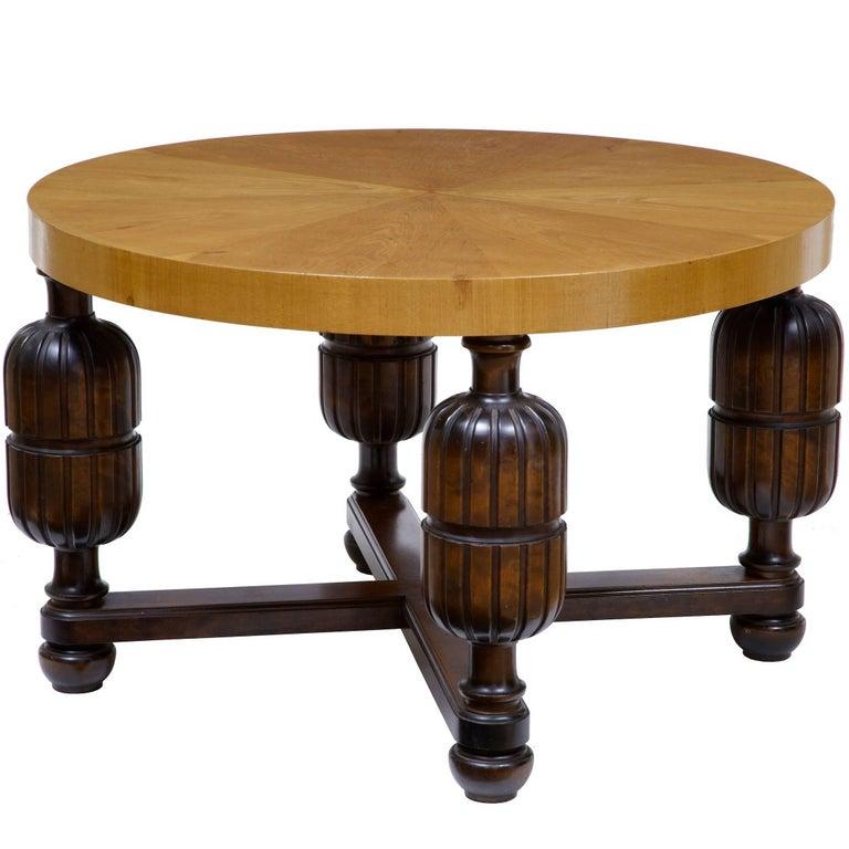 Art Deco Swedish Birch Coffee Table For Sale At 1stdibs