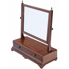 Antique Regency Mahogany Dressing Table Swing Mirror Toilet, circa 1825
