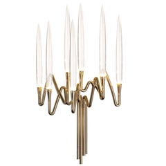 """Il Pezzo 3 Wall Sconce"" LED wall lamp in gold plated brass"