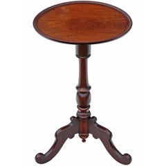 Antique Quality Regency Mahogany Tilt-Top Wine or Side Table
