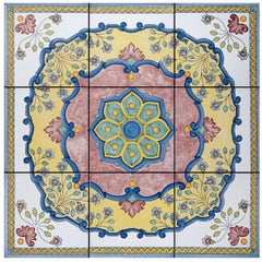 Rosone Caprile Set of Nine Ceramic Tiles