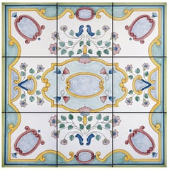 Rosone Albori Set of Nine Ceramic Tiles