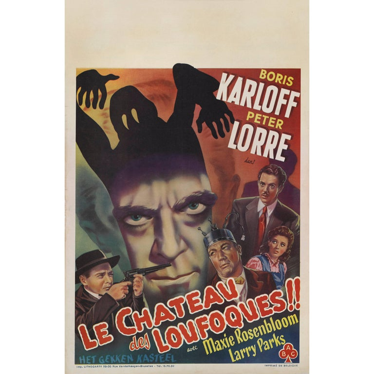 The Boogie Man Will Get You / Le Chateu Des Loufoques Belgian Movie Poster