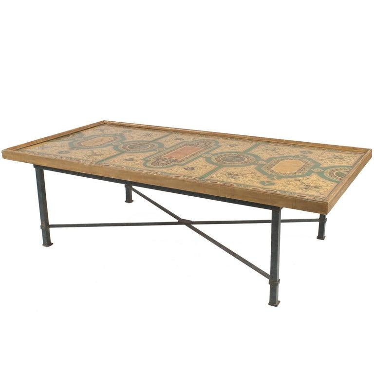 Italian Roman Neoclassic Coffee Table