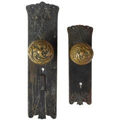Cast Brass Corbin 'Florence' Door Hardware Set