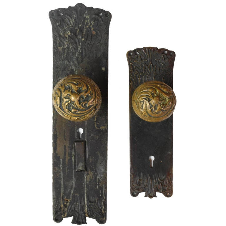 Cast Brass Corbin 'Florence' Door Hardware Set For Sale - Cast Brass Corbin 'Florence' Door Hardware Set For Sale At 1stdibs